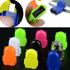 Android Robot Micro USB Host OTG Adapter Cable for Samsung Galaxy S3/4 Note2 Hot