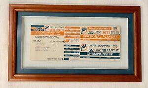 Miami Dolphins 1977 Division Playoff/Championship Phantom Ticket Stub Lot of 2