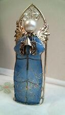 "Capiz Shell Blue Angel Tea Light Candle Holder 9"" Home Decor"