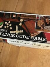 Vintage 1971 Scrabble Sentence Cube Game Selchow & Righter Co Complete