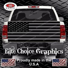 American Flag Black Grey Truck Tailgate Wrap Vinyl Graphic Decal Sticker Wrap
