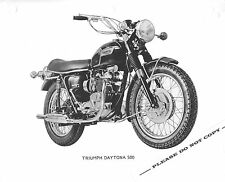 RARE ORIGINAL 1971 TRIUMPH MOTORCYCLE FACTORY PRESS PHOTO T100R DAYTONA 500