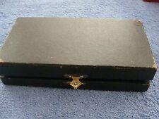6 alte Bronze-Obstmesser im originalen Holzkasten-Gesamtlänge ca 16cm