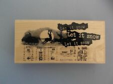 PENNY BLACK RUBBER STAMPS SLEIGH BELLS RING NEW STAMP