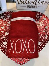 Rae Dunn Valentine's Day Hand Towels- Set of 2- XOXO New With Tags