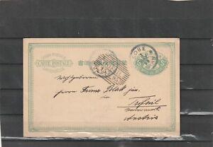 Japan Kobe POSTAL CARD TO Trifail Austria 1895