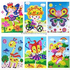 Baby Kids Developmental 3D Crystal Mosaics Art Sticker Mosaic Craft Kit Toy Game