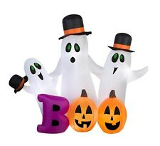 Gemmy Airblown Inflatable 5.5'×7' Spooky Ghost Halloween Decoration
