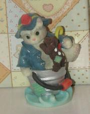 "Enesco Calico Kittens Figurine ""Friendships are Like Sunshine Rain"" with box"