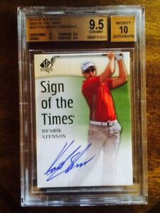 2014 SP AUTHENTIC SIGN OF THE TIMES SOTT HENRIK STENSON BGS 9.5 SUBS: TWO 10s