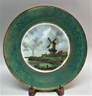 Signed Antique ROYAL VIENNA Hand-Painted Plate c. 1900 Dutch Windmill