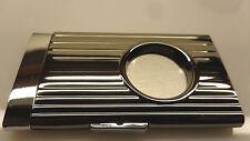 Guillotine Cigar Cutter Gun Metal & Chrome Retractable & Lock Action 58 Ring