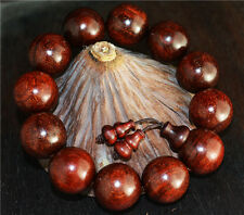 natural india zitan red sandalwood bracelet prayer beads mala wood worry rosary