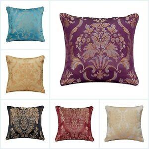 "Jacquard Floral Cushion Cover Decorative Sofa Bed Filled Cushion Pad 18 x 18"""