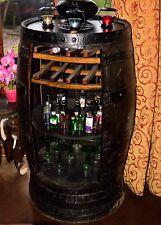 Rustic Solid Oak Guinness Branded Whisky Barrel Home Bar   Drinks Cabinet