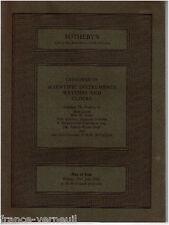 Catalogue Sotheby's Horlogerie Scientific instrument scientifique clocks watches