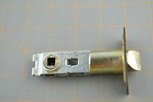 "Emtek Latch 2-3/4"" Backset Door Lock Replacement Part Flat Black Faceplate"