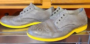 SPERRY Top-Sider Boat Oxford Wingtip Shoes Men's Size 8M Yellow Bottom -NO LACES