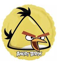 "4x  18"" ANGRY BIRDS YELLOW BIRD FOIL MYLAR BALLOONS."