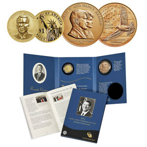2016-S Ronald Reagan Coin and Chronicles Set (RP dollar & Medal)