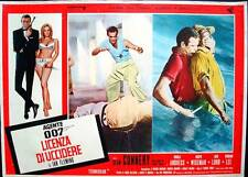 DR. NO JAMES BOND Italian fotobusta photobusta movie poster red R71 SEAN CONNERY