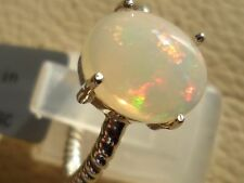 Genuine Ethiopian Opal Ring in Sterling Silver 2.91cts Gorgeous OPAL Ring