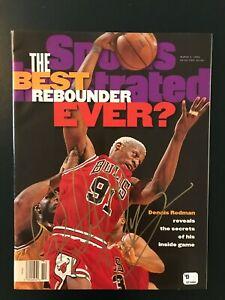 Dennis Rodman signed sports illustrated magazines w COA, No address label