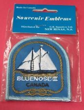 New Old stock Bluenose II Canada sewing embroidered patch boat ship