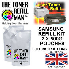 Toner Refill Kit For Use In Samsung MLT-D101S, MLT-D101S/ELS, SU696A 2 X Pouches
