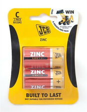 2 Pack of JCB C / R14 Sized Zinc Chloride Batteries for Household Appliances