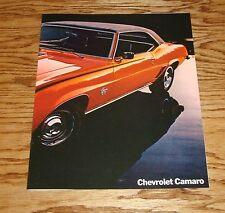 Original 1969 Chevrolet Camaro Facts Features Sales Sheet Brochure 69 Chevy