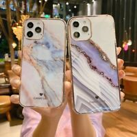 Case for iPhone 11 12 Pro Max XR ShockProof Marble Phone Cover Silicon Hard Back