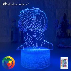 Anime My Hero Academia Shoto Todoroki Face Design Led Night Light Lamp For Kids