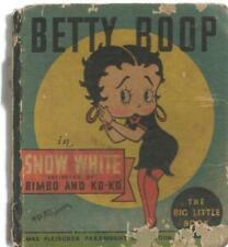 Betty Boop in Snow White ORIGINAL Vintage 1934 Whitman Big Little Book