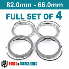 82.0 - 66.0 Spigot Rings Hub Rings FULL SET BBS wheels aluminium spacers rings