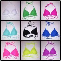 Joe Boxer Womens Swim Suit Bikini Top Solid String Tie Up Light Padding