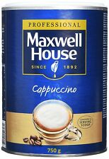 1 x 750g Maxwell House Cappuccino Coffee Large Tins Capuchino , Add Water .