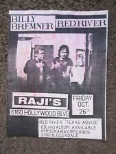 BILLY BREMNER (ROCKPILE)+RED RIVER 10/26/1990 RAJI'S HOLLYWOOD 11x8 FLYER