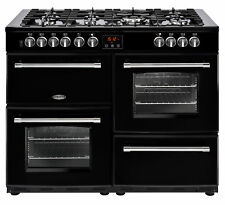 Belling Farmhouse 110DFT 110cm Dual Fuel Range Cooker Black 444444145