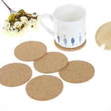 New listing 6pcs Cork Wood Drink Coaster Tea Coffee Cup Mat Pads Table Decor TablewareNjnihv