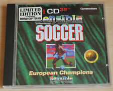 Cd32 sensible SOCCER EUROPEAN CHAMPIONS Limited Edition (Amiga, 1994, JEWEL-CASE)