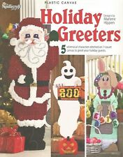 Holiday Greeters Plastic Canvas Patterns Book Needlecraft Shop Santa Ghost Bunny