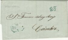Portugal, 1851 Stampless Cover, with Letter, Sent from Porto to Coimbra