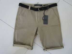 Mossimo Men's David Khaki Belted Stretch Chino Shorts Size: 32