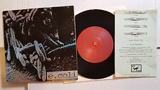 """E. COLI - Another Time / Monsters 1995 ALT ROCK 7"""" Screen Print Cover + Insert"""