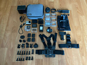 GoPro HERO3+ Black Edition 4K Camera, 4 Batteries, Touch Screen, 20+ Accessories