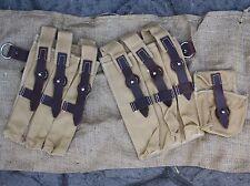 WW2 GERMAN ARMY  MP40 MAGAZINE POUCH SET - PAIR REPRODUCTION TAN