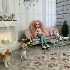 Furniture for dolls.  Sofa for dolls 1: 6 (Barbie; MX; Blythe; Integrity; BJD).