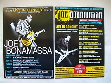 "JOE BONAMASSA Live in Concert ""Dust Bowl"" 2011/12 UK Tours. Promo flyers x 2"
