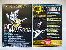 "JOE BONAMASSA Live in Concert ""Dust Bowl"" 2011/12 UK Tours. Promo flyers x 2"
